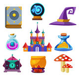 Collection of Vector Fairy Tale Elements Royalty Free Stock Image
