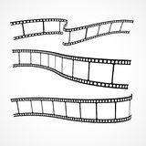 Collection of vector film strips. Collection of film strips vector Stock Photo