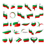 Collection of vector flag of Bulgaria Stock Photo