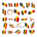 Collection of vector flags of Belgium Stock Photography
