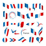 Collection of vector flags of France Royalty Free Stock Image
