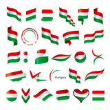 Collection of vector flags of Hungary Royalty Free Stock Photos