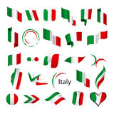 Collection of vector flags of Italy Royalty Free Stock Photo