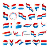 Collection of vector flags of Netherlands Royalty Free Stock Photos