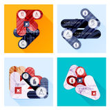Collection of Vector Flat Infographic Layouts Stock Photo