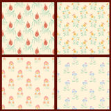 Set of vector floral backgrounds Royalty Free Stock Photography