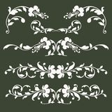 Collection of vector floral borders Stock Images