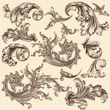 Collection of vector flourishes for design Stock Photo