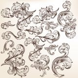 Collection of vector flourishes and swirls for design Royalty Free Stock Photo