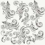 Collection of vector flourishes in vintage style Royalty Free Illustration