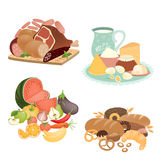 Collection of vector food items Stock Photo
