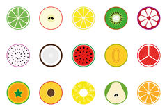 Collection of vector fruit icons. Stock Photo