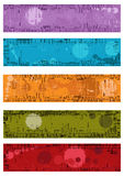 Collection of vector grunge banners Stock Photography