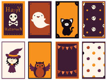 Collection of vector Halloween cards Royalty Free Stock Image