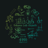 Collection of  Vector hand drawn doodle science lab objects. Stock Photo