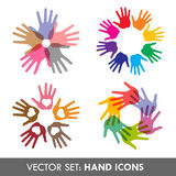 Collection of vector hand  icons Stock Photography