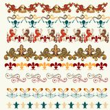 Collection of vector heraldic borders for your design Stock Photo
