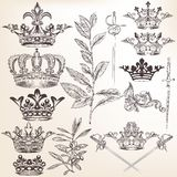 Collection of vector heraldic crowns Stock Images