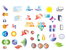 Collection of vector icons Royalty Free Stock Images
