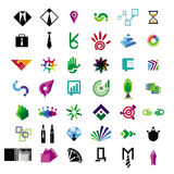 Collection of vector icons for business and financ Royalty Free Stock Images