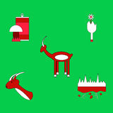 Collection of vector icons and illustration nature and ecosystem Stock Photography