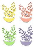 Collection. Vector illustration set. Flower, plant, growing in a pot. Plant seedlings. Vector illustration of a set vector illustration