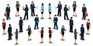 Collection vector illustrations of business people royalty free illustration