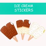Collection of vector illustrations of ice cream vector illustration