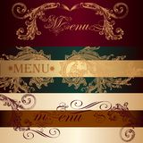 Collection of vector invitation cards in vintage style Royalty Free Stock Photo