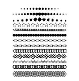 Collection of vector invitation page dividers. Stock Images