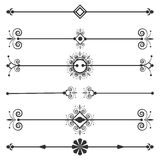 Collection of vector invitation page dividers. Stock Photos