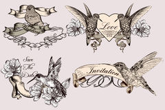Collection of vector labels, badges or logotypes for save the da royalty free illustration