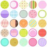 Collection of Vector Labels in pastel color Royalty Free Stock Photos
