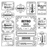 Collection of vector labels in retro style Stock Photography