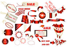 Collection of vector labels for sale design Royalty Free Stock Photos