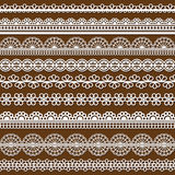 Collection of vector lace Stock Images