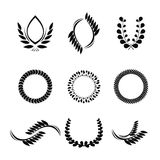 Collection of vector laurel wreaths for award Royalty Free Stock Photography