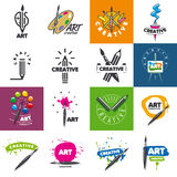 Collection of vector logo design creativity and art vector illustration