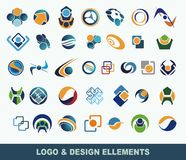 Collection of vector logo elements stock illustration