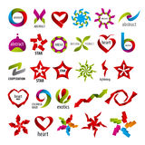 Collection of vector logos abstraction Stock Images