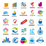 Collection of vector logos accounting report Stock Photography