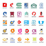 Collection of vector logos arrow Stock Image