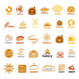 Collection of vector logos bakery Stock Images
