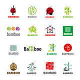 Collection of vector logos bamboo Royalty Free Stock Photos
