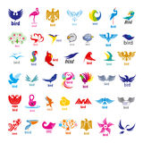 Collection of vector logos birds Stock Photo