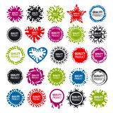 Collection of vector logos with blots Stock Photo