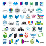 Collection of vector logos books Royalty Free Stock Photos