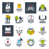 Collection of vector logos books Stock Photo