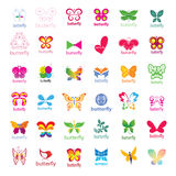 Collection of vector logos butterflies Stock Photos