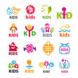 Collection of vector logos children Royalty Free Stock Photo